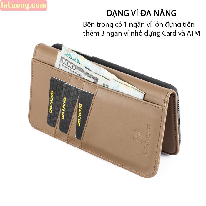 Bao da iPhone X / Xs DG.ming Genuine Leather 2 trong 1 cực đẹp 2