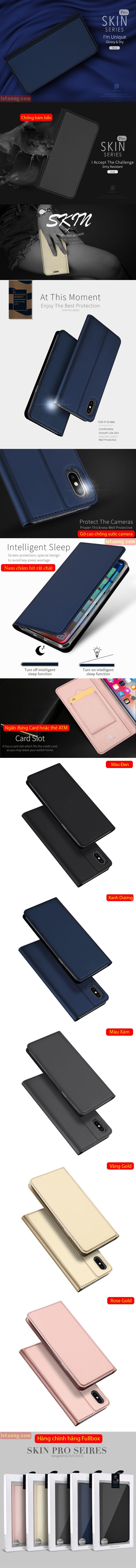 Bao da iPhone Xs Max Dux Ducis Skin khung mềm siêu mỏng 5
