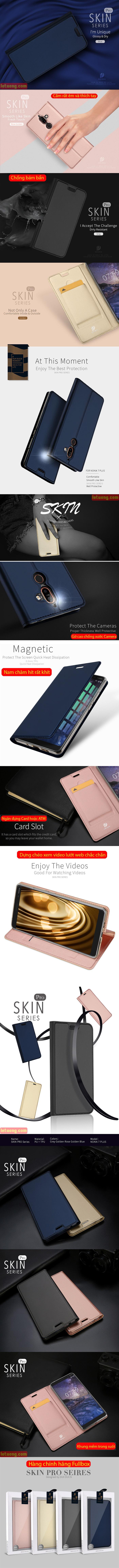 Bao da Nokia 7 Plus Dux Ducis Skin khung mềm - siêu mỏng 4