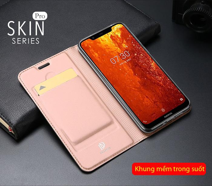 Bao da Nokia 8.1 Dux Ducis Skin khung mềm - siêu mỏng - siêu mịn 2