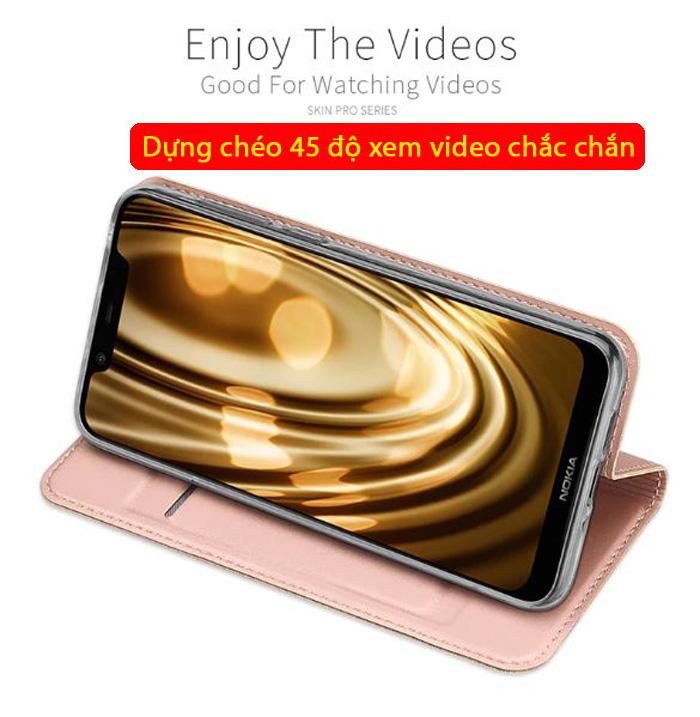 Bao da Nokia 8.1 Dux Ducis Skin khung mềm - siêu mỏng - siêu mịn 3