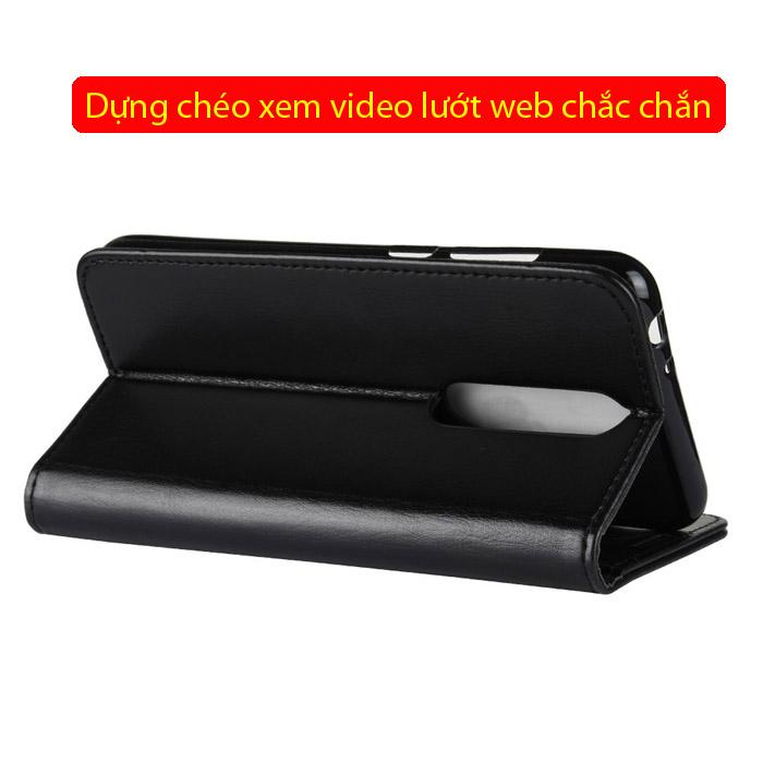 Bao da Nokia X5 LT Wallet Leather dạng ví đa năng - khung mềm 3