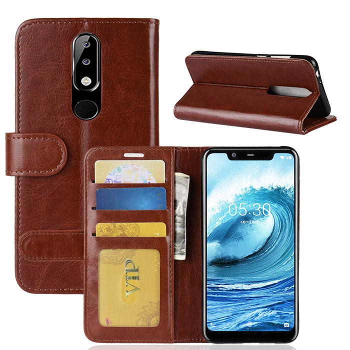 Bao da Nokia X5 LT Wallet Leather dạng ví đa năng - khung mềm 1