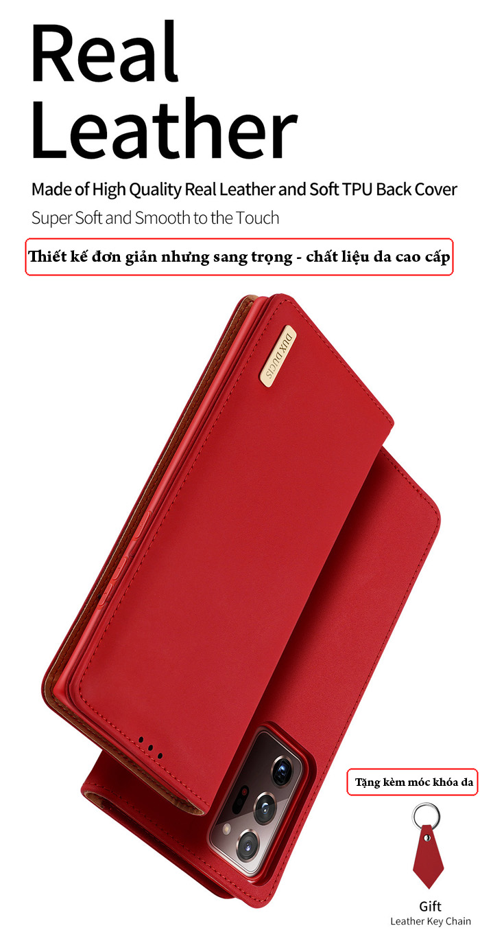 Bao da Samsung Note 20 Ultra / 5G Dux Ducis Wish Genuine Leather 1