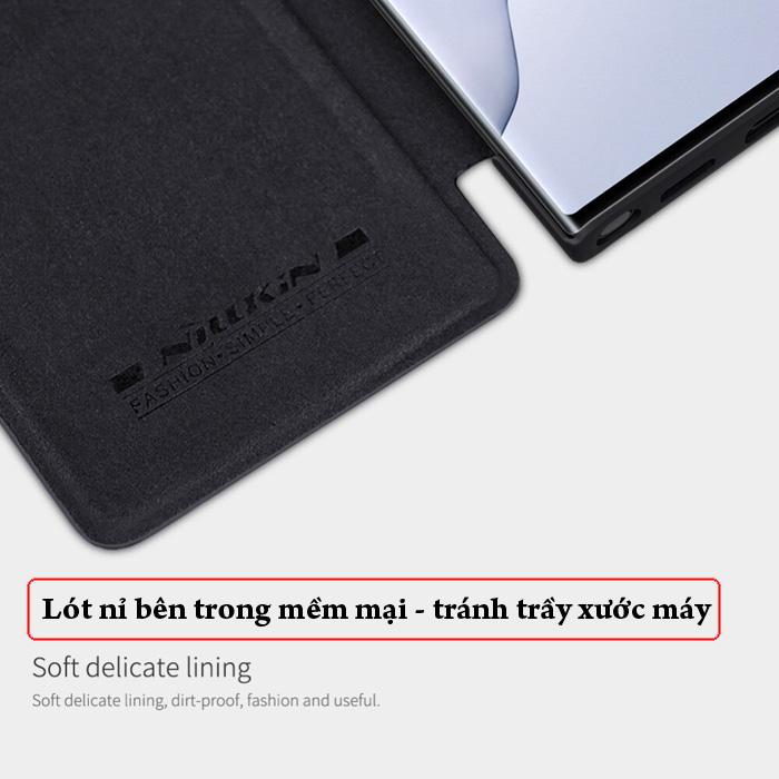 Bao da Note 20 Ultra / 5G Nillkin Qin Leather sang trọng - cổ điển 2