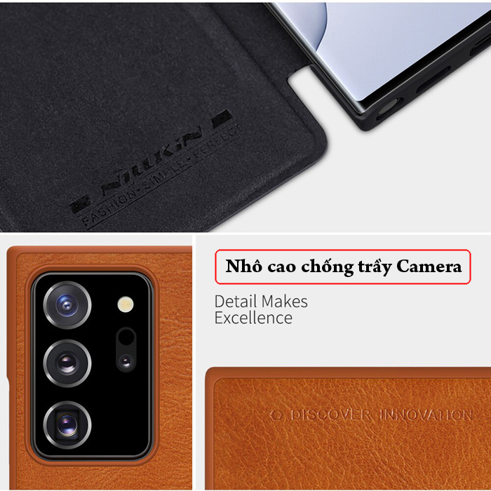 Bao da Note 20 Ultra / 5G Nillkin Qin Leather sang trọng - cổ điển 3