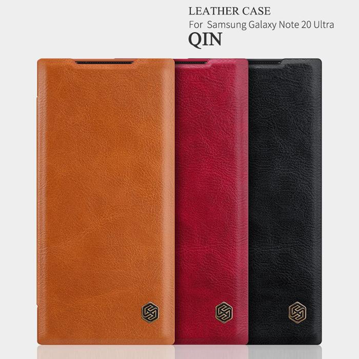 Bao da Note 20 Ultra / 5G Nillkin Qin Leather sang trọng - cổ điển 1