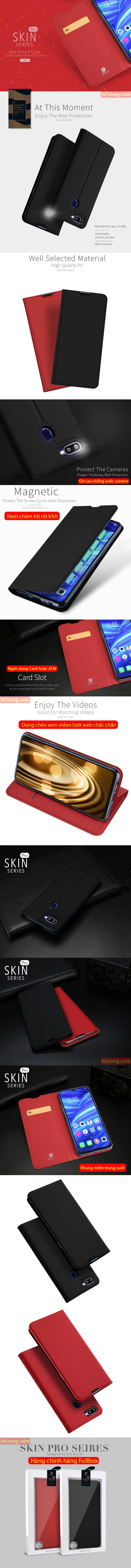 Bao da Oppo F9 Dux Ducis Skin khung mềm - siêu mỏng - siêu êm 4