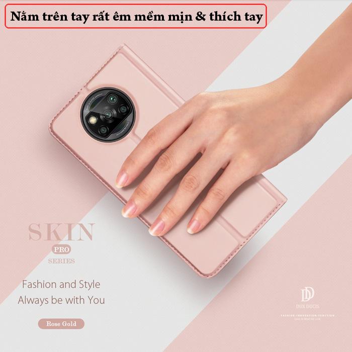 Bao da Poco X3 Pro Dux Ducis Skin Siêu mỏng nhẹ Êm - Mềm - Mịn 3