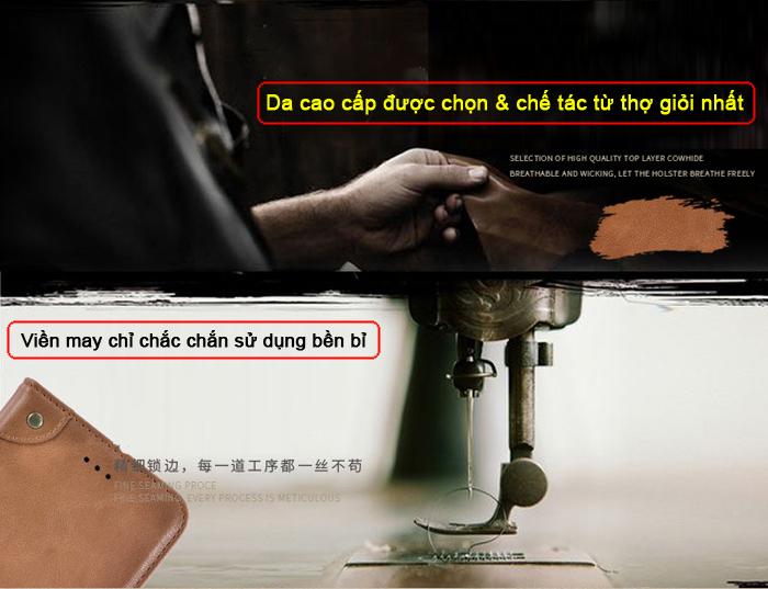Bao da Samsung A72 5G iDewei Wallet Vintage Sang Trọng - Cổ điển 3