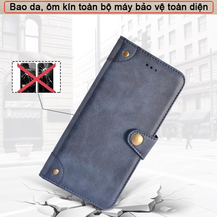 Bao da Samsung A72 5G iDewei Wallet Vintage Sang Trọng - Cổ điển 5