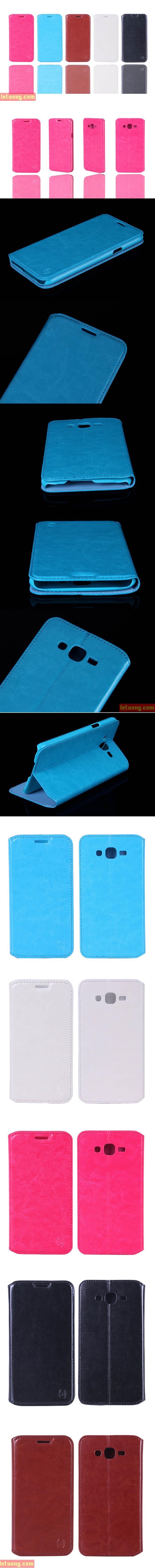 Bao da Samsung Galaxy J7 Boso Leather mỏng gọn, thời trang 6