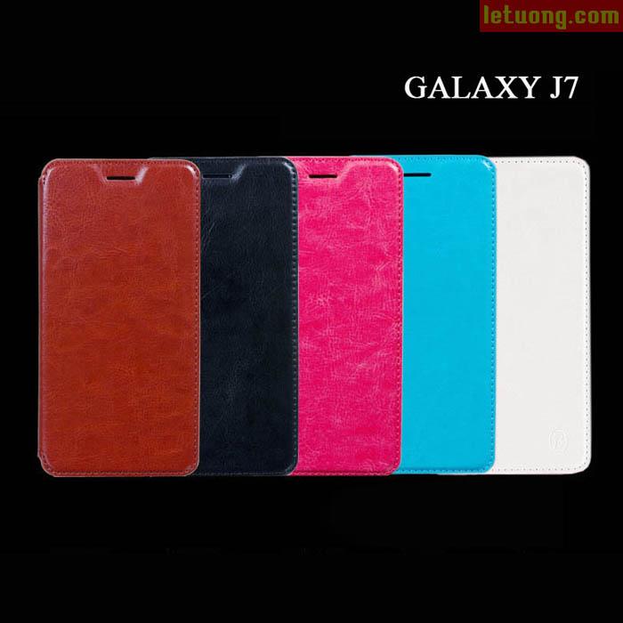 Bao da Samsung Galaxy J7 Boso Leather mỏng gọn, thời trang 5