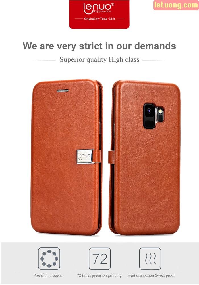 Bao da Samsung Galaxy S9 Lenuo Lebe Flip Case tuyệt đẹp - sang trọng 3