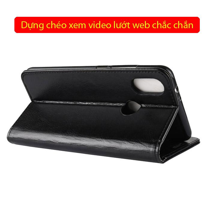 Bao da Xiaomi Mi 6X / Mi A2 LT Wallet Leather dạng ví đa năng - khung mềm 3