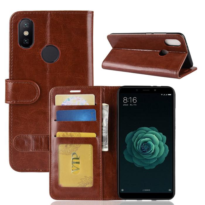 Bao da Xiaomi Mi 6X / Mi A2 LT Wallet Leather dạng ví đa năng - khung mềm 1