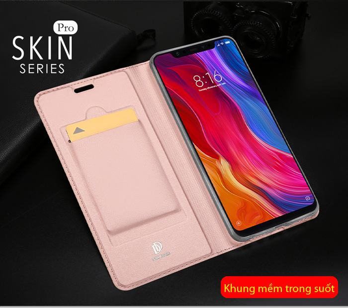 Bao da Xiaomi Mi 8 Dux Ducis Skin siêu mỏng - khung mềm - mịn màng 2