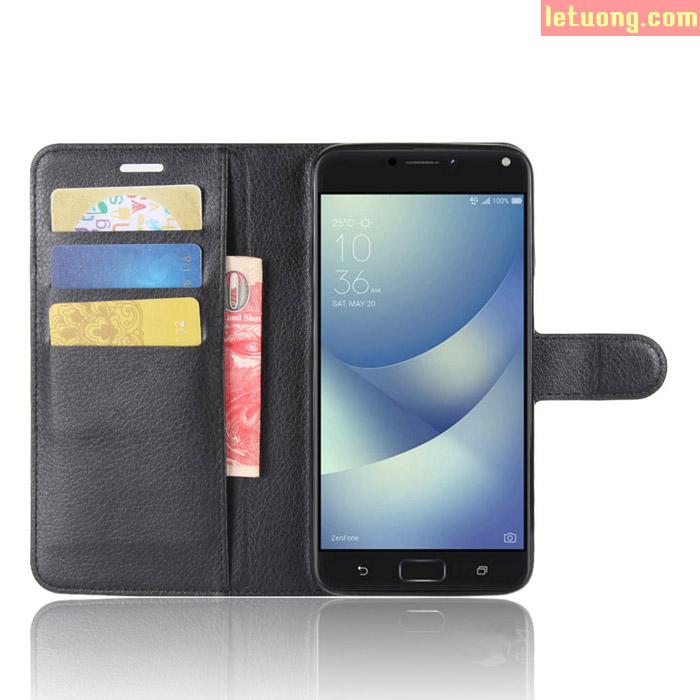 Bao da Zenfone 4 Max Pro ZC554KL LT Flip Wallet đa năng 1