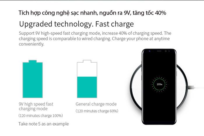 Đế sạc nhanh không dây Nillkin Disk 4 Fast Charging chuẩn QI 2