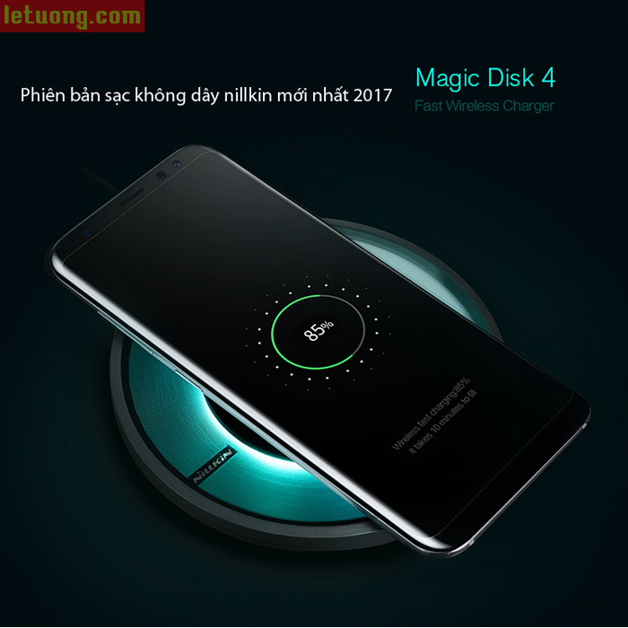 Đế sạc nhanh không dây Nillkin Disk 4 Fast Charging chuẩn QI 5