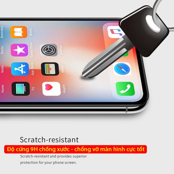 Kính cường lực iPhone Xs Max Nillkin 3D XD+ full màn dùng được ốp lưng 2