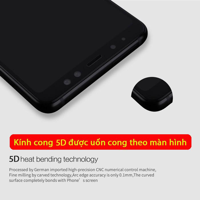 Kính cường lực Galaxy A7 2018 Glass Full Cover 5D Cong theo màn hình 1