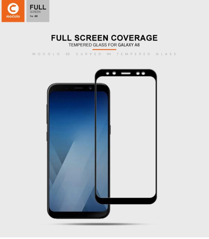 Kính cường lực Galaxy A8 2018 Mocolo 3D Edge full cong theo màn hình 5