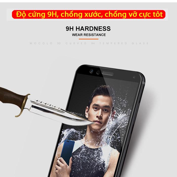Kính cường lực Huawei Honor 7X Mocolo 3D Full Cover che toàn màn hình 2