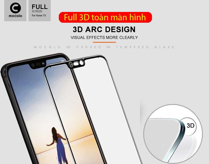Kính cường lực Huawei Nova 3E Mocolo 3D Full Cover che toàn màn hình 1
