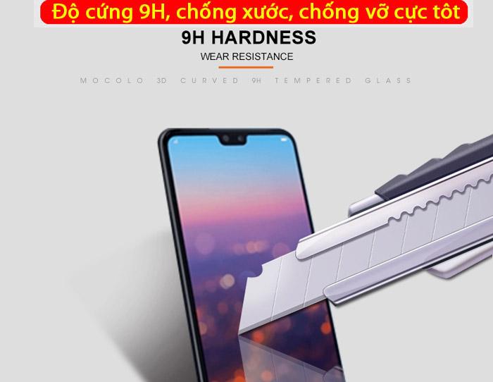 Kính cường lực Huawei Nova 3E Mocolo 3D Full Cover che toàn màn hình 2