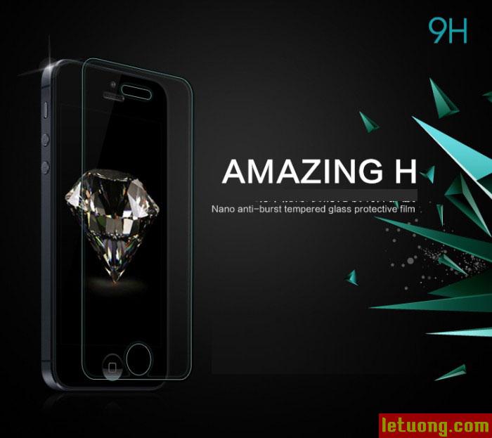 Kính cường lực Iphone 5/5S Nillkin Amazing 9H chống vỡ màn 6