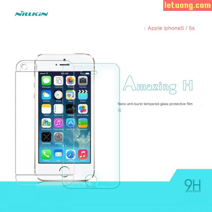 Kính cường lực Iphone 5/5S Nillkin Amazing 9H chống vỡ màn 5
