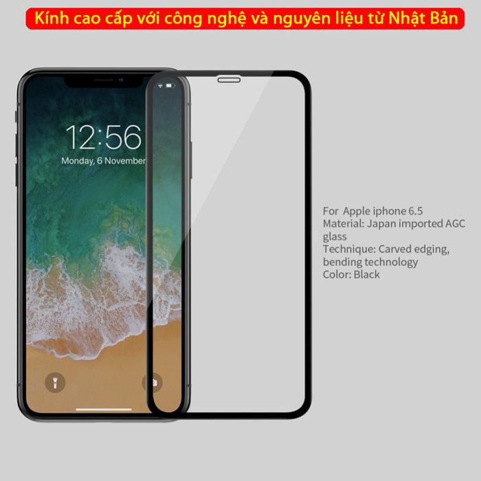 Kính cường lực iPhone Xs Max Nillkin 3D CP+ Max full toàn màn hình 3