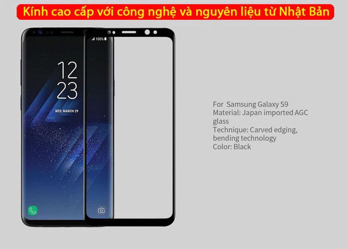Kính cường lực Samsung Galaxy S9 Nillkin 3D CP+ Max full toàn màn hình 3