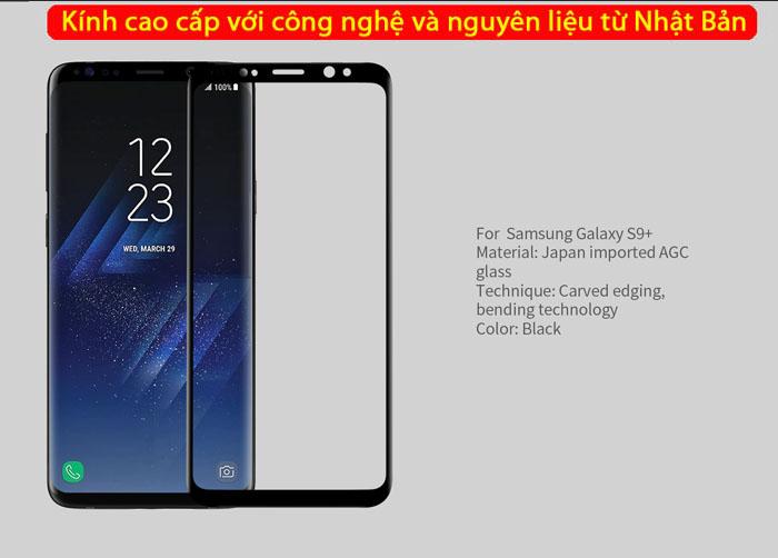 Kính cường lực Galaxy S9 Plus Nillkin 3D CP+ Max full toàn màn hình 4