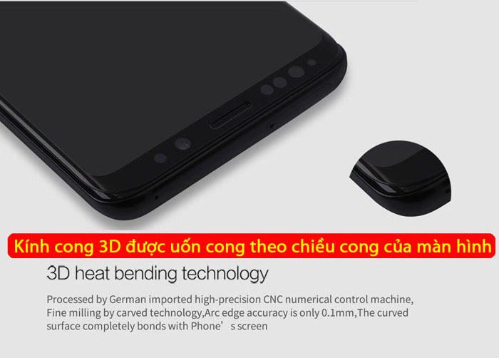 Kính cường lực Galaxy S9 Plus Nillkin 3D CP+ Max full toàn màn hình 2