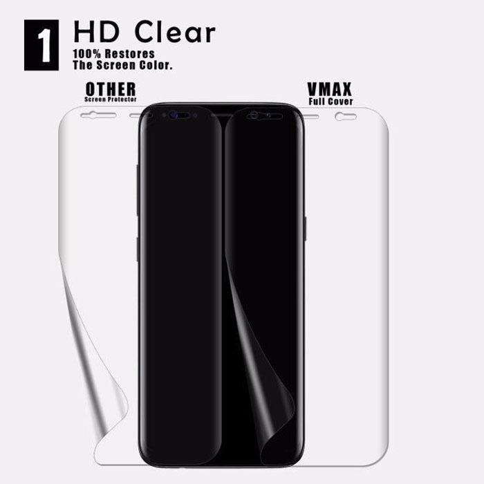 Miếng dán full màn hình Galaxy S9 Vmax 3D Curved TPU trong suốt 1