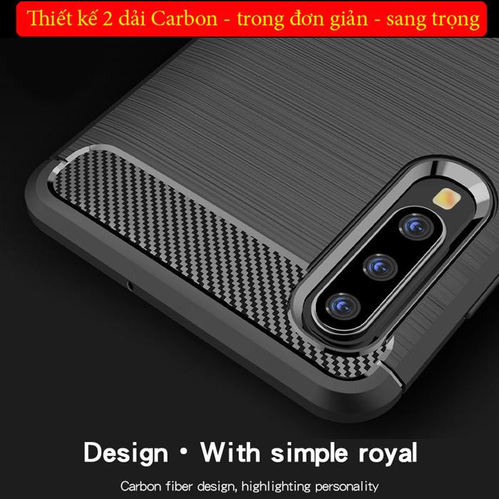 Ốp lưng Galaxy A50 Mofi Shen Du Carbon nhựa mềm - chống vân tay 1