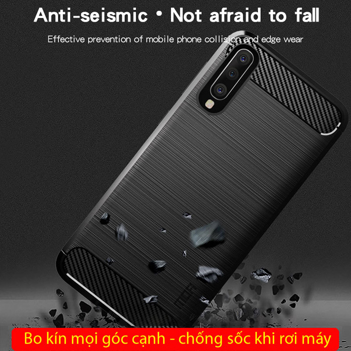Ốp lưng Galaxy A50 Mofi Shen Du Carbon nhựa mềm - chống vân tay 3