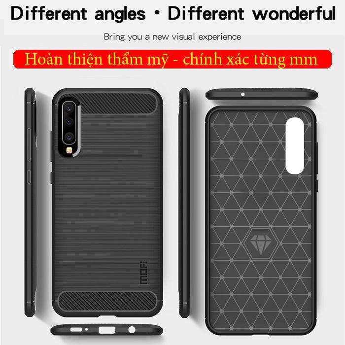Ốp lưng Galaxy A50 Mofi Shen Du Carbon nhựa mềm - chống vân tay 4