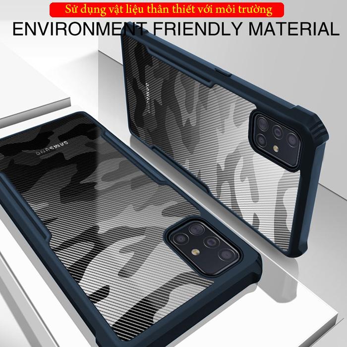 Ốp lưng Galaxy A51 Rzants Armor Camo trong suốt - họa tiết quân đội 2