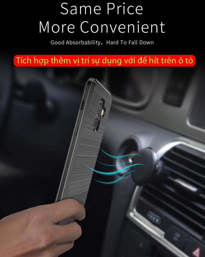 Ốp lưng Galaxy A6 Plus 2018 Dux Ducis Mojo Carbon Fiber nhựa mềm 5