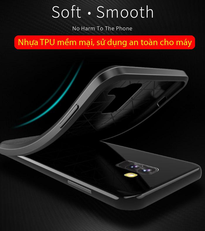 Ốp lưng Galaxy A6 Plus 2018 Dux Ducis Mojo Carbon Fiber nhựa mềm 2