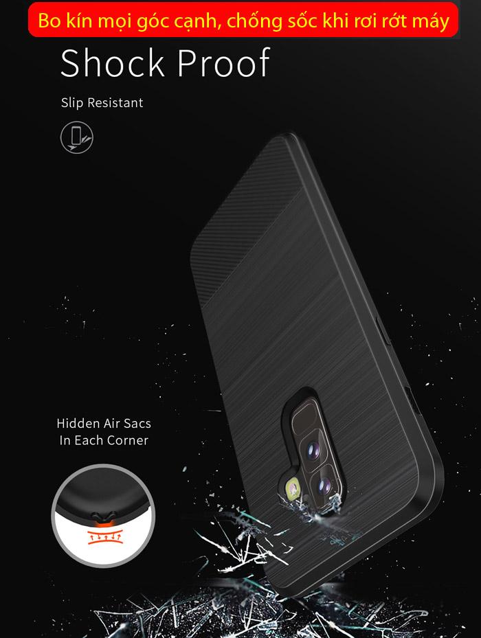 Ốp lưng Galaxy A6 Plus 2018 Dux Ducis Mojo Carbon Fiber nhựa mềm 4