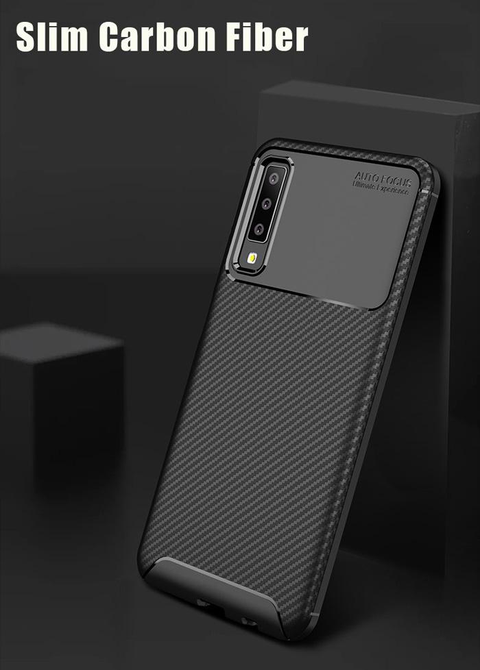 Ốp lưng Galaxy A7 2018 LT Carbon Fiber nhựa mềm chống vân tay 2