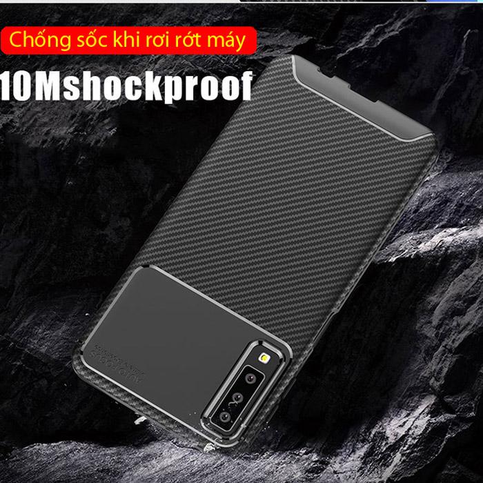 Ốp lưng Galaxy A7 2018 LT Carbon Fiber nhựa mềm chống vân tay 8