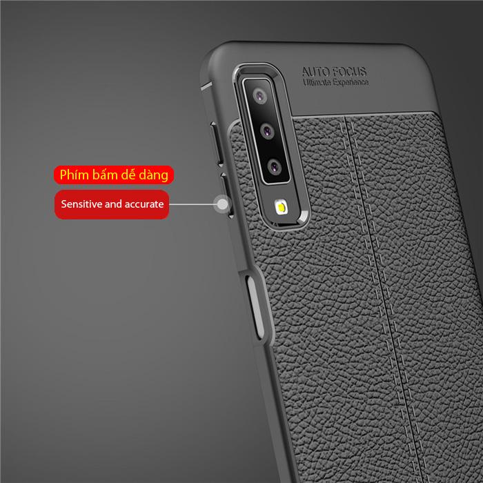 Ốp lưng Galaxy A7 2018 LT Leather Design Case vân da - chống vân tay 4
