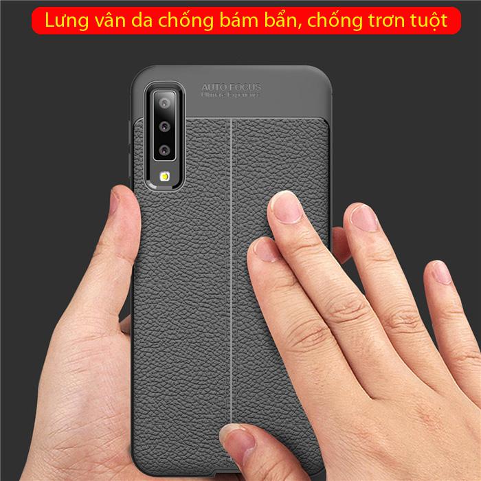 Ốp lưng Galaxy A7 2018 LT Leather Design Case vân da - chống vân tay 1