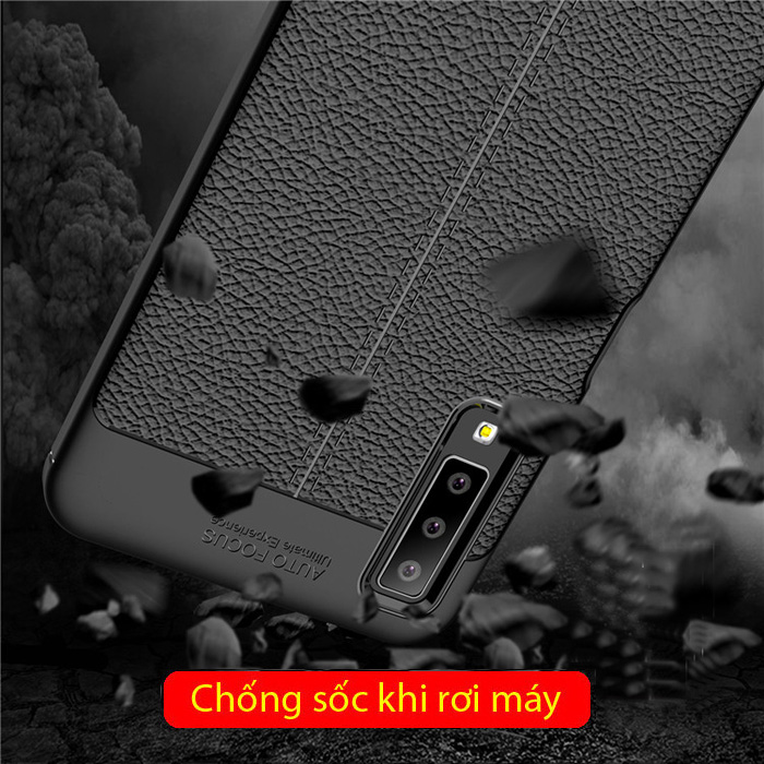 Ốp lưng Galaxy A7 2018 LT Leather Design Case vân da - chống vân tay 3