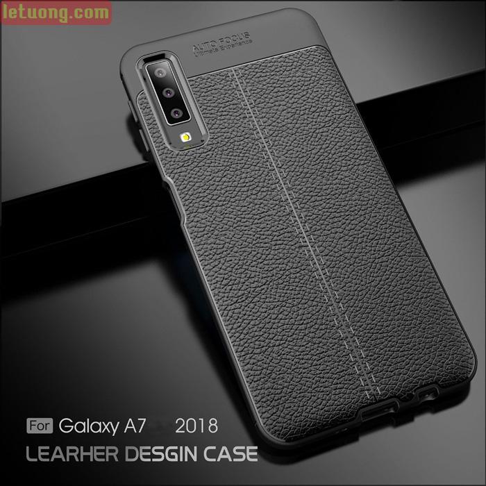 Ốp lưng Galaxy A7 2018 LT Leather Design Case vân da - chống vân tay 5